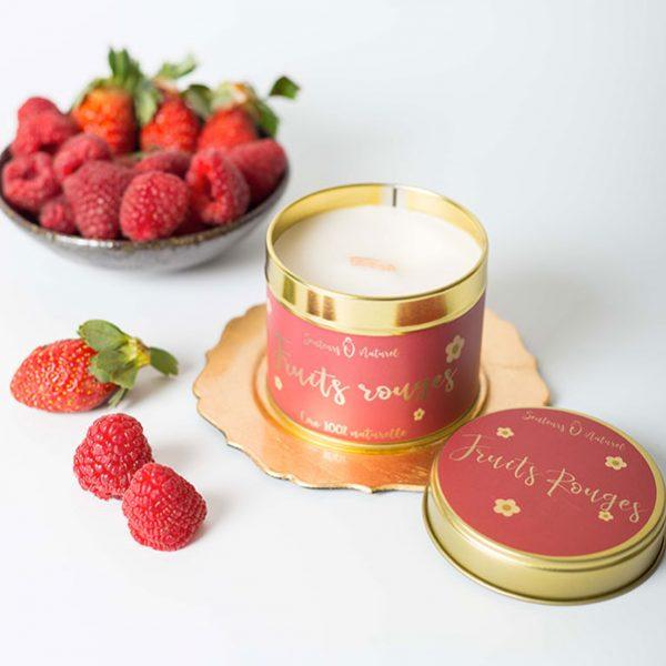 bougie parfumée fruits rouges